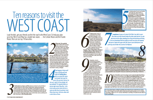 Ten reasons to visit the West Coast
